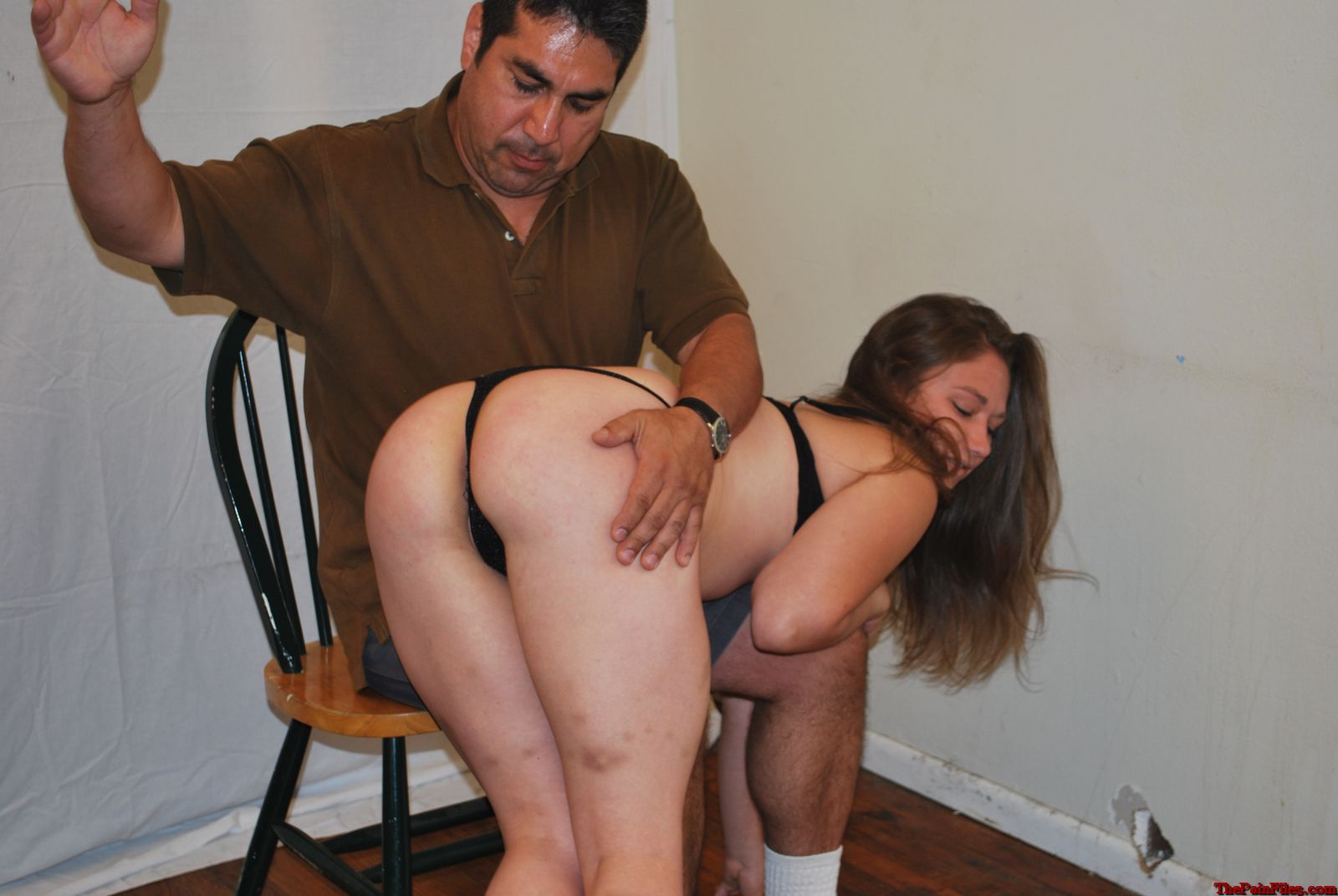 spanking spank paddle red hard bare
