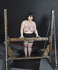 Lezdom tortures of tied chubby uk slavegirl Adele Haze in lesbian bdsm and big boobs punishments by mistress Nimue from Nimues World