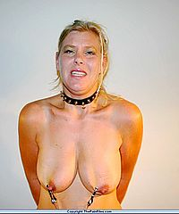 Dutch milf Auroras amateur bdsm and tit torture of european wife in private sado maso from The Pain Files
