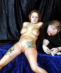Amateur pussy needle torture and genital punishment of English housewife Gina in extreme bdsm from The Pain Files