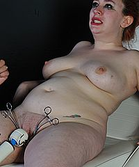 Amateur slaves medical nightmare and extreme pussy torture to tears of bdsm submissive Nimue on the doctors table from The Pain Files