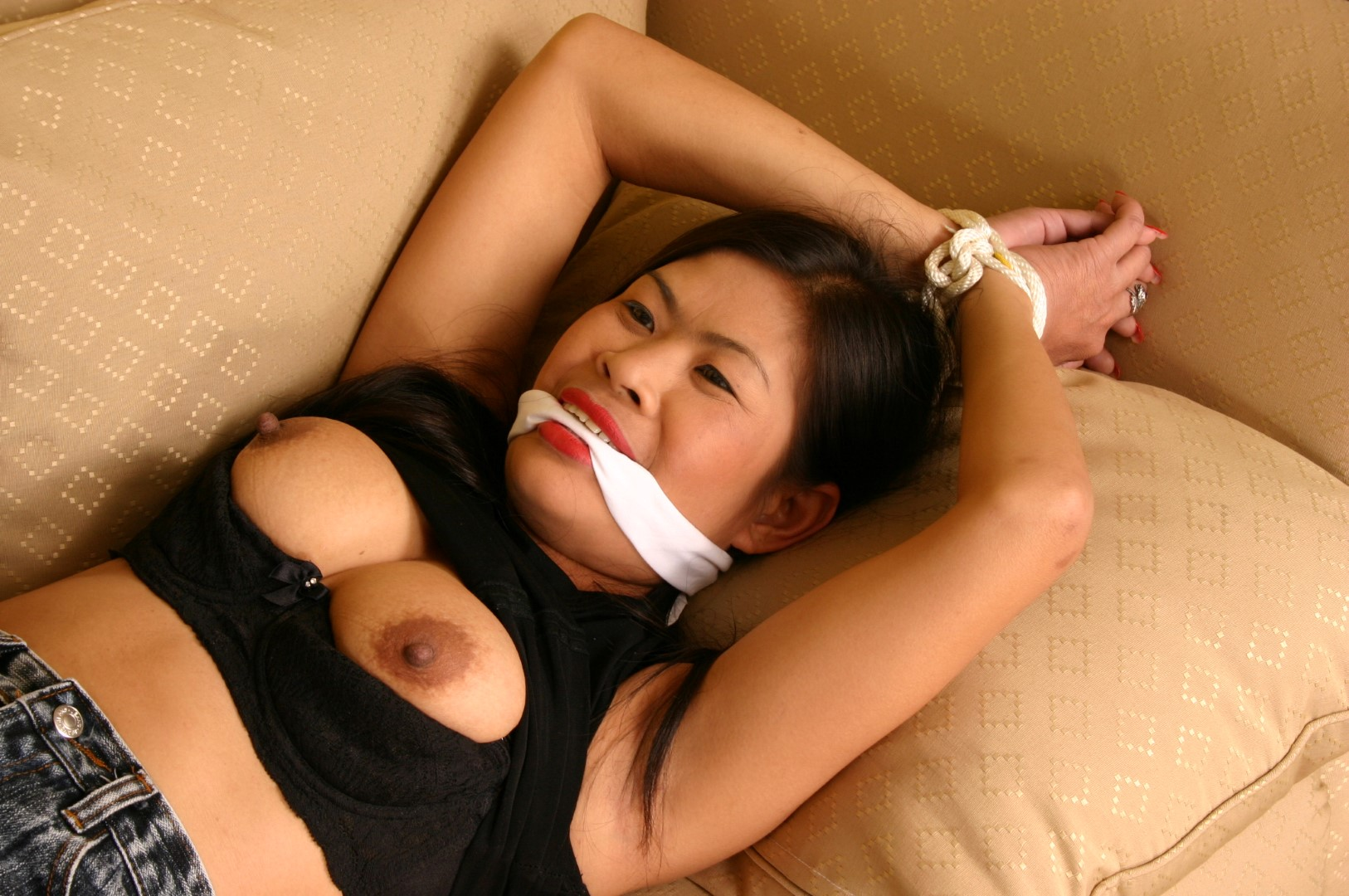 Asian sex slave bondage