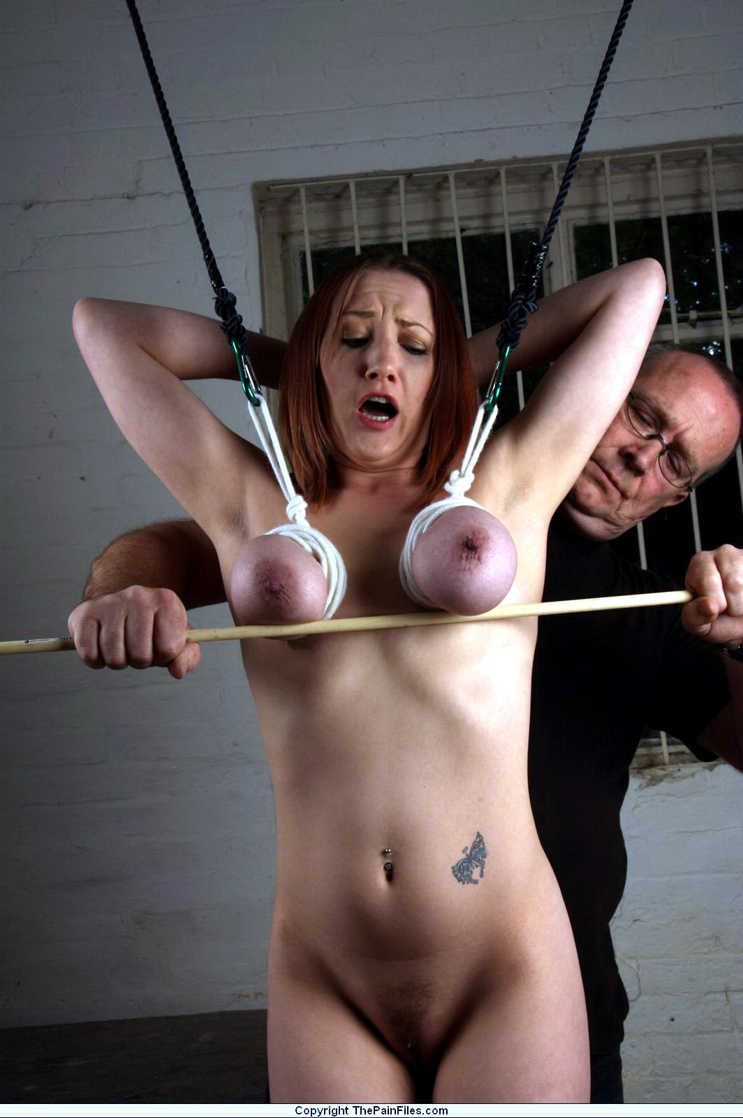 Ass. Very boobs nipples bondage