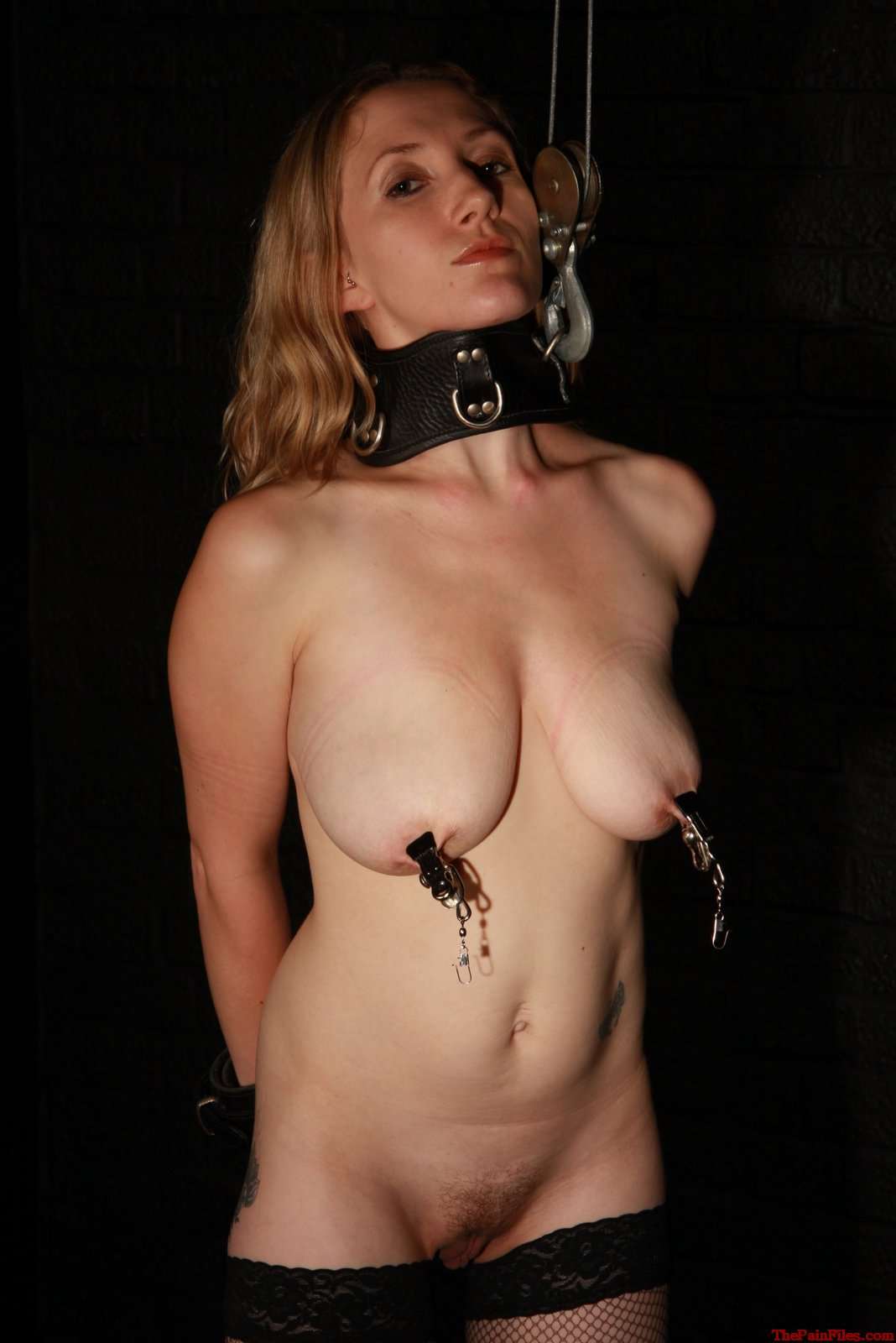 Slave girl nipple pain