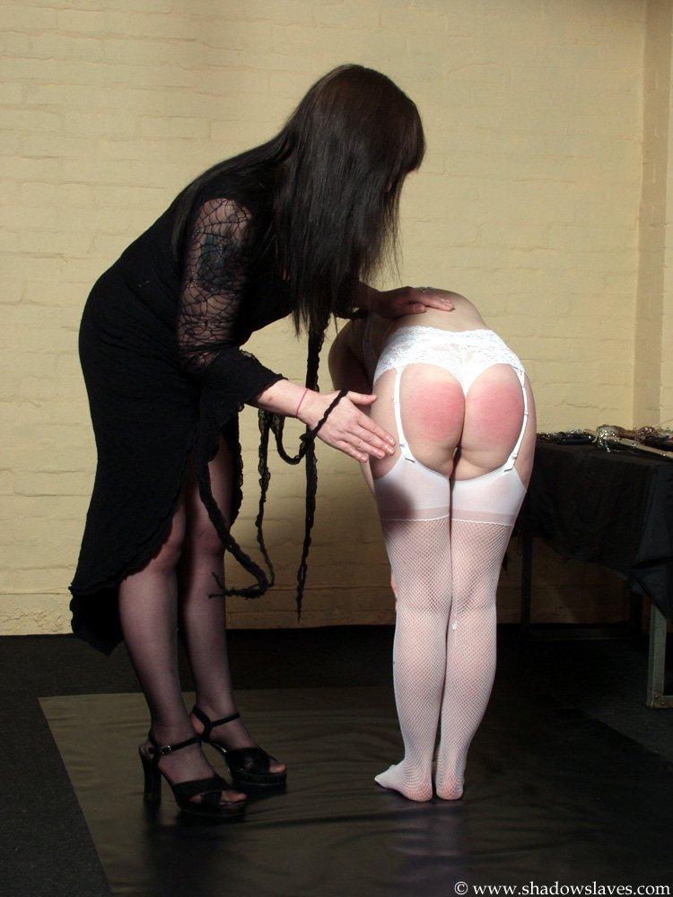 spanking Lesbian mistress