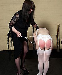 Teen Ayliths lesbian spanking and redheads striped red ass punishment by Mistress Jay from Shadow Slaves