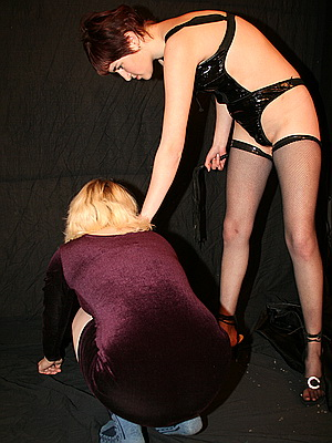 Lesbian bdsm slave in pain training and domination from The Pain Files
