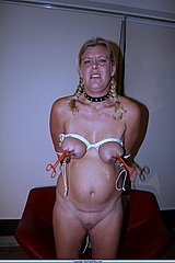 Dutch amateur female slave in bound breast bdsm and facial Pain from The Pain Files