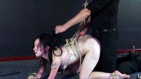 Faes bizarre hardcore slave sex and tied anal penetration of humiliated sklavensex submissive from Shadow Slaves