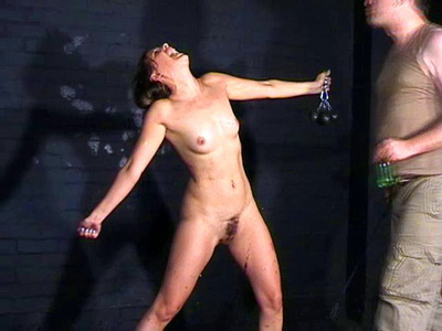 Bizarre military bdsm of private female soldier in extreme humiliation and strained spanking from The Pain Files