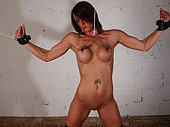 Nipple stretching tit bdsm and bondage for busty slavegirl Daniella from The Pain Files