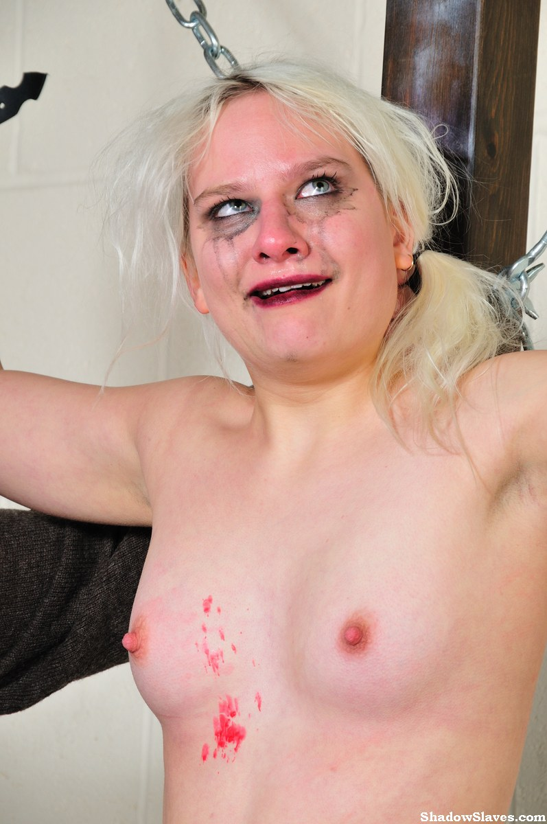 Tied blonde slaveslut chaos tortured to tears and hot wax 4