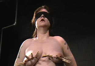 Brutal mature bdsm of hardcore busty slavegirl Jays tit torture movies and burning depravation of uk amateur submissive in severe pain and suffering from Shadow Slaves