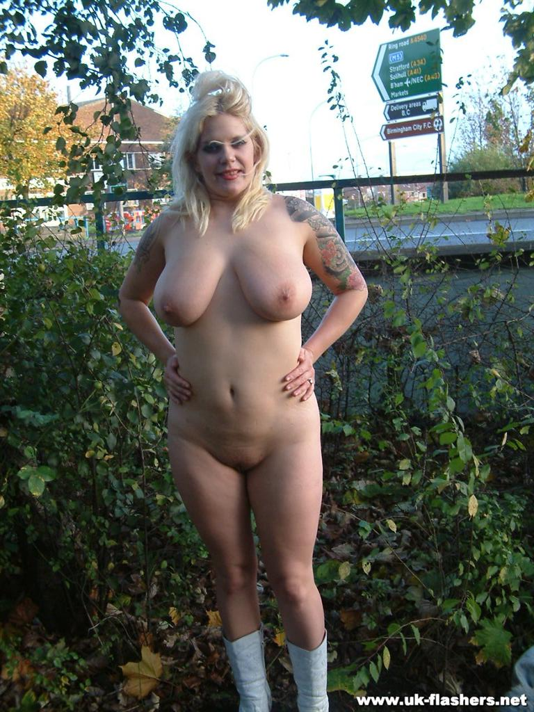 Exhibitionist big tits