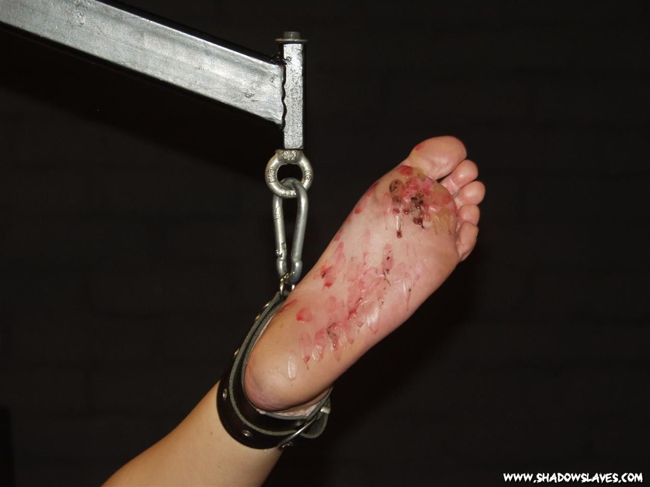 Tied slave worship foot