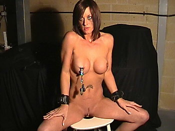 Extreme breast bdsm and nipple torments of busty brunette british slavegirl Daniela from The Pain Files
