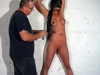 Bdsm slavegirl Daniellas extreme bondage and depraved heavy weights pussy pain from The Pain Files