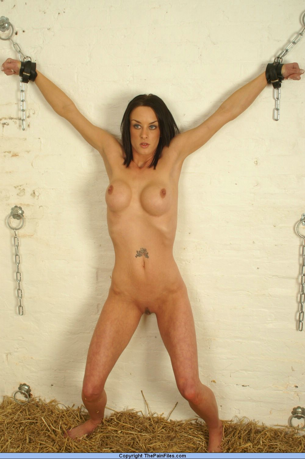Something is. Busty and chained