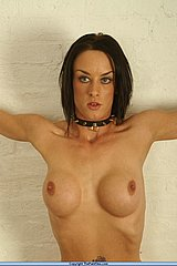 Busty british bdsm slavegirl chained in bondage and tit punishment pain from The Pain Files