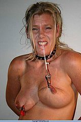 Kinky mature amateur bdsm slavegirl in tit torment from The Pain Files
