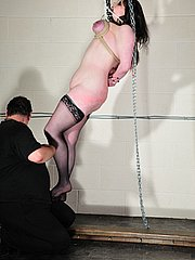 Extreme tithanging bondage and breast bdsm of screaming british slavegirl Emma from The Pain Files