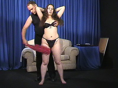 English spankers corporal punishment of disobedient amateur Nimue in whipping and spanking from The Pain Files
