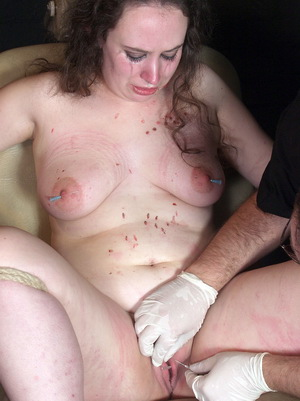 Extreme pain videos of amateur needle slavegirl in nipple piercing torture and whipped pussy hellpain with crying Nimue suffering, sobbing and screaming from The Pain Files