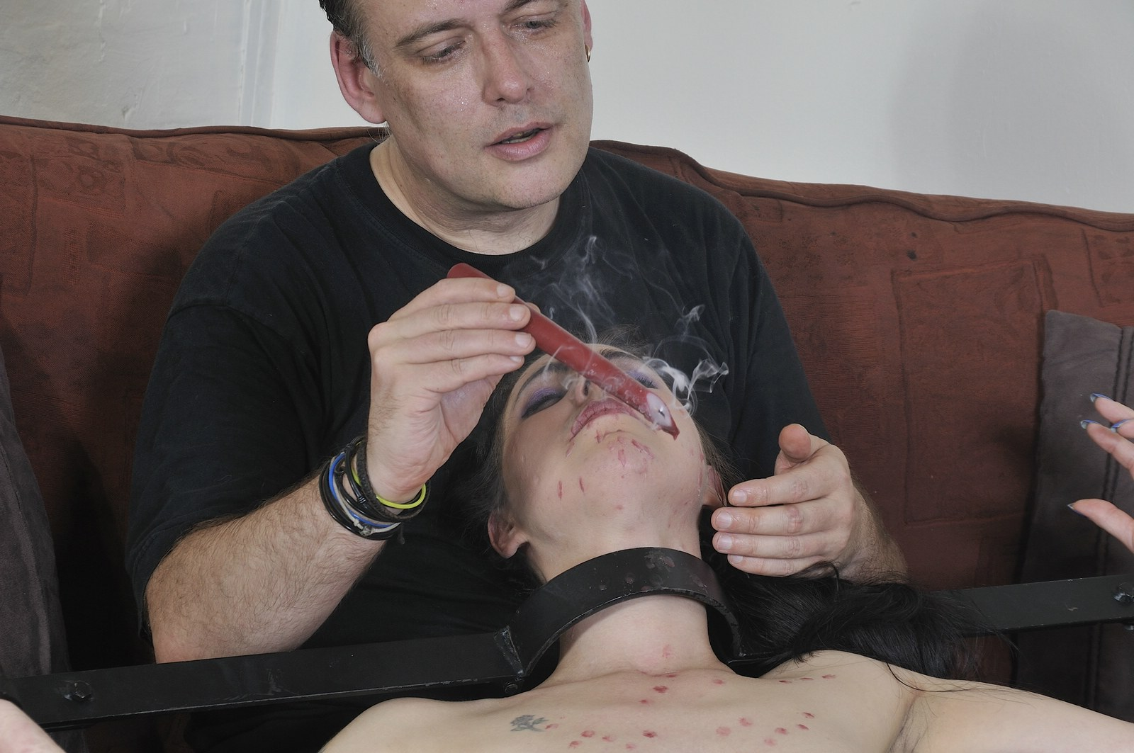 Tied slave honesty cabellero whipped and hot wax punished 5