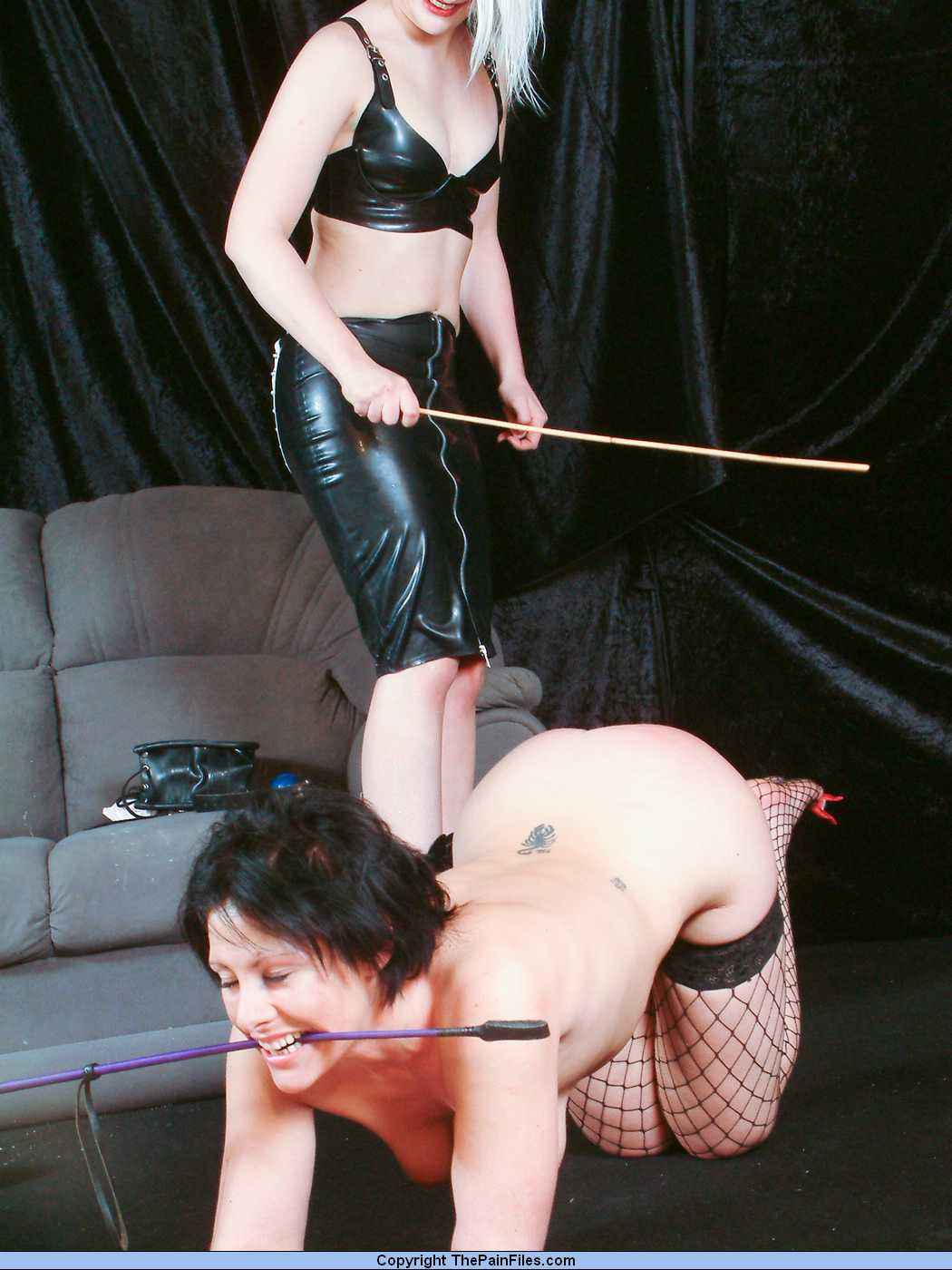 Still strict lesbian spanking