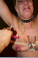 Dutch amateur bdsm slavegirl in strict breast bondage and extreme tit torments from The Pain Files