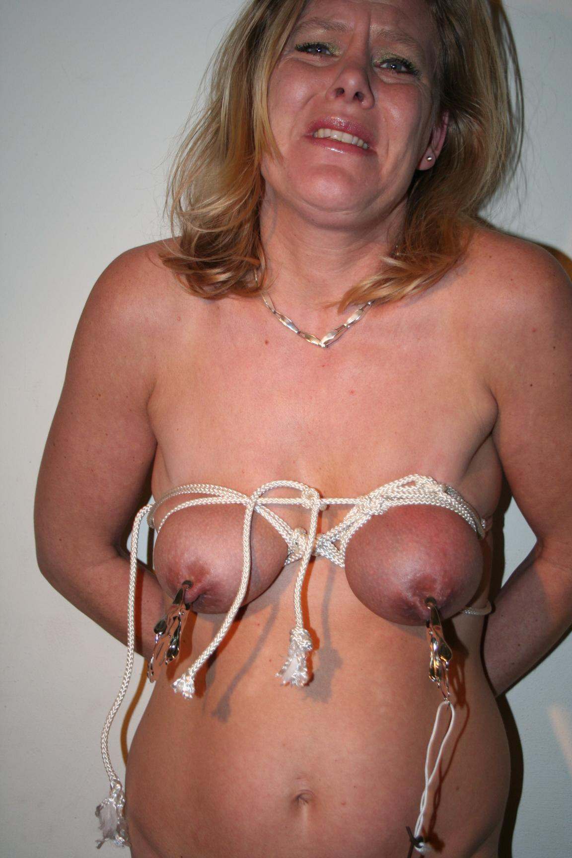 Mature big tits bondage opinion you