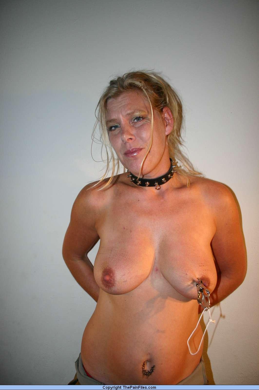 Nude big boob closeup