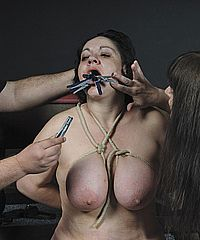 Amateur slavegirl Andreas lesbian bdsm and humiliation by stern uk mistress Jay from The Pain Files
