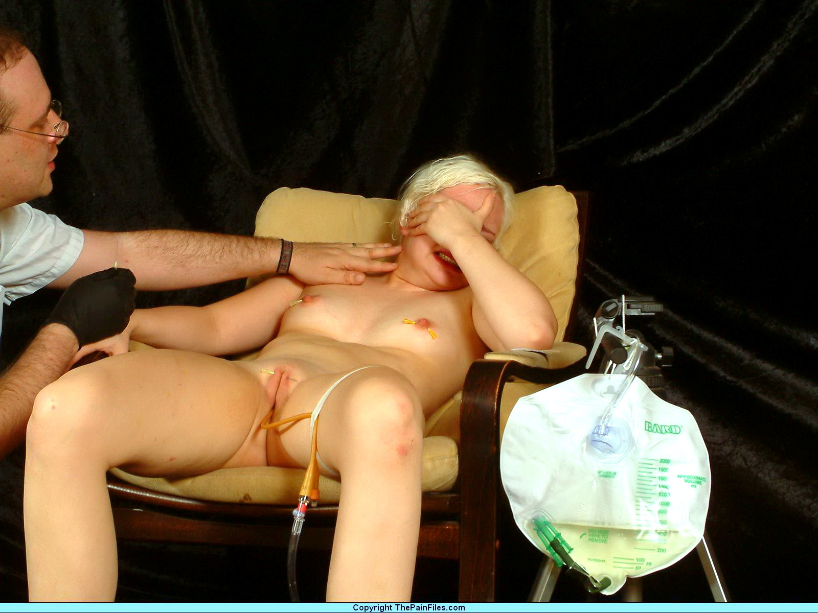 Something is. medical fetish injection play with