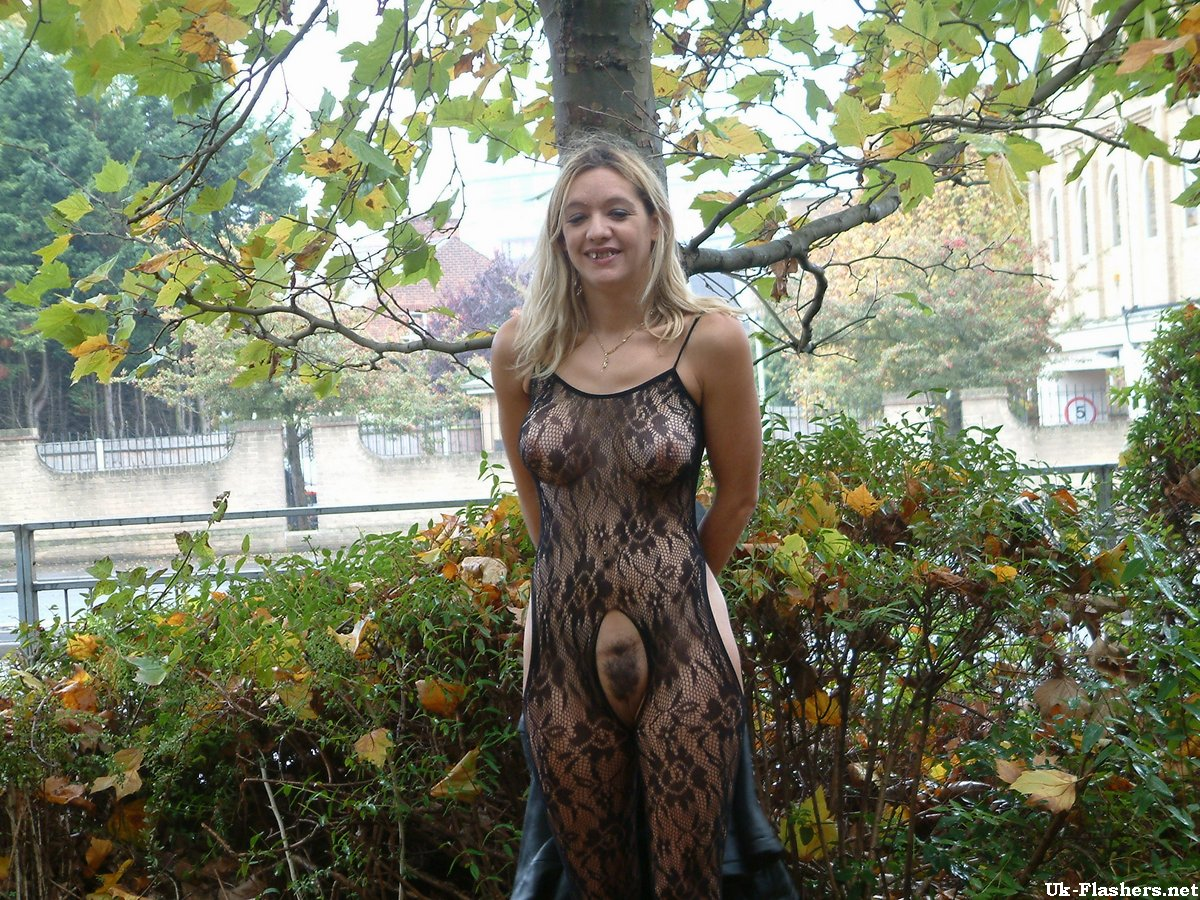 Photos of public pantyhose flashers