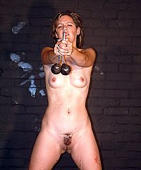 Military punishment and bizarre pussy whipping of soldier in harsh discipline and humiliating bdsm from The Pain Files
