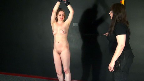 Amber West in lesbian bdsm and whipping by lezdom mistress Jay from The Pain Files