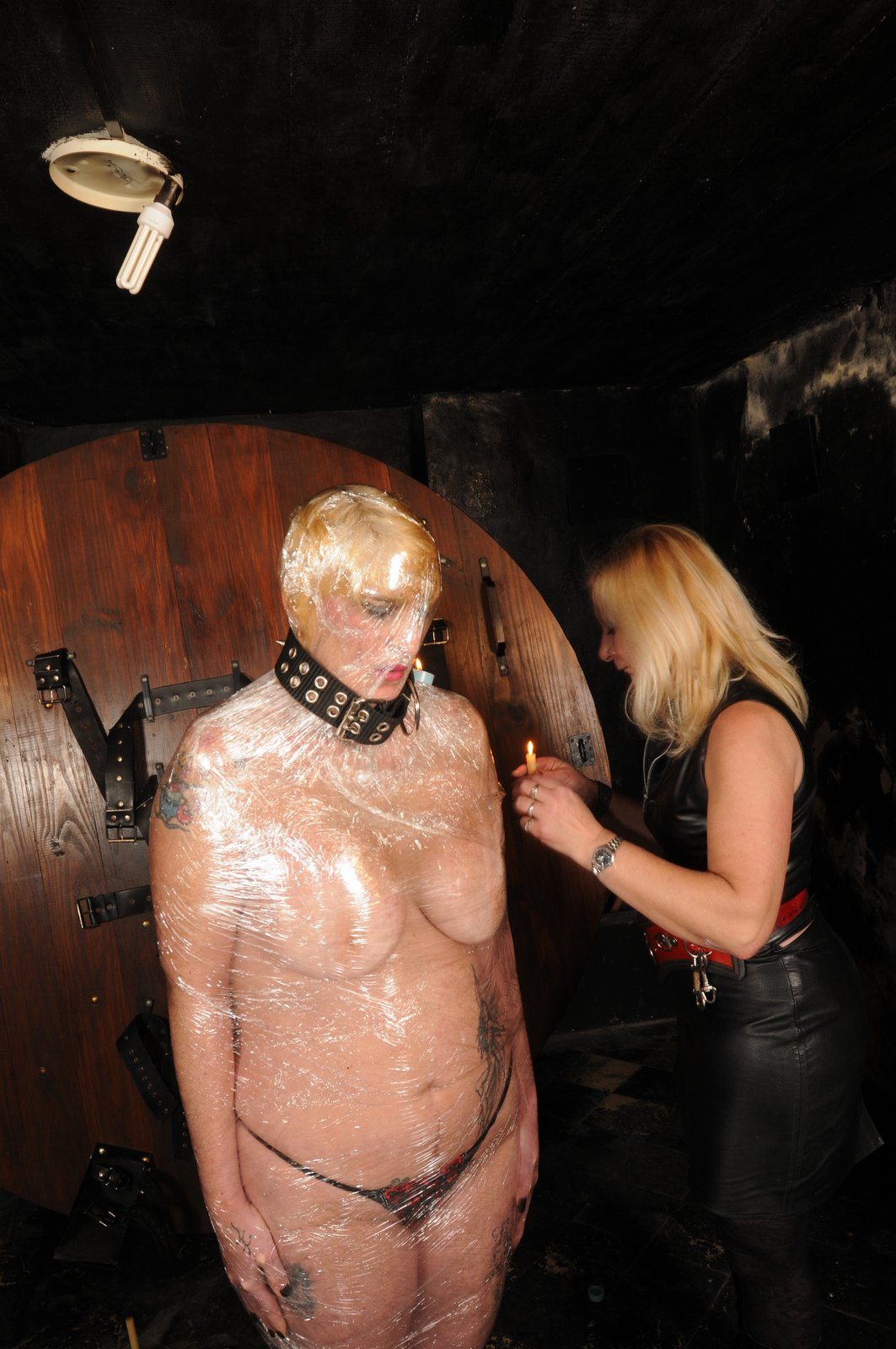 Total mummy bondage dominatrix
