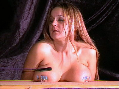 Nailed nipples and needle bdsm torments of busty british crying slavegirl Gina from The Pain Files