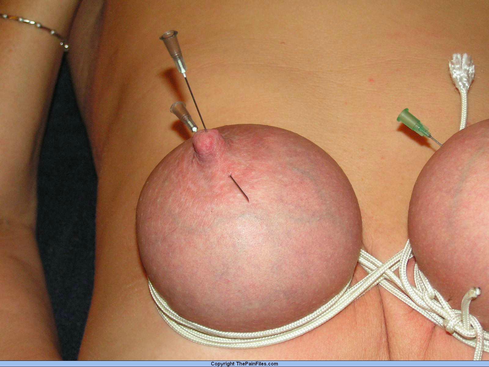 Bdsm nipple needle torture