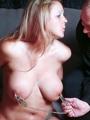 Oriental bdsm slavegirl Ange Venus in bondage and big tit pain from The Pain ...