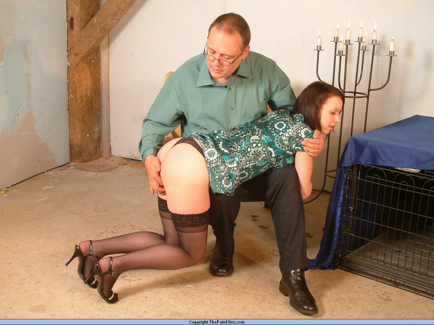 Painful spanking