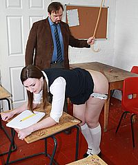 Hardcore amateur spanking and merciless caning of Pandora Blakes bare bottom from Nimues World
