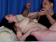 Extreme tit torments and needle pain punishments of lifestyle bdsm slavegirl Nimue from The Pain Files