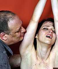 Teen masochist punished and nipple torture from The Pain Files