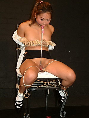 Young japanese slave girls gagged tit torture and domination of oriental teen Tigerr Juggs from Shadow Slaves