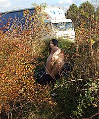 Busty Tigerrs japanese public nudity and outdoor masturbation of asian porn star flashing huge tits at passing truck drivers from UK Flashers