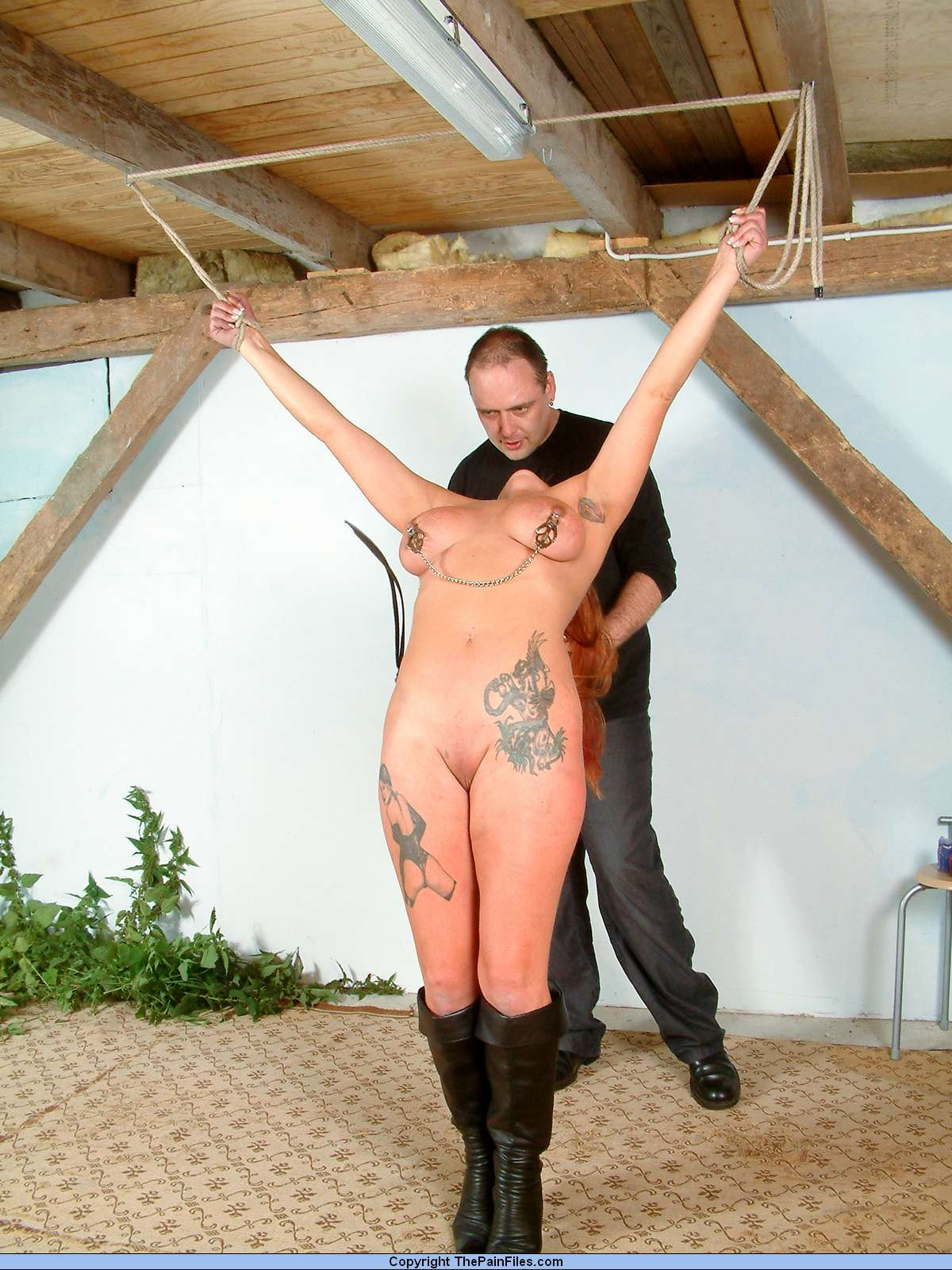 Bdsm tit whipping rough anal fuckfest for 9