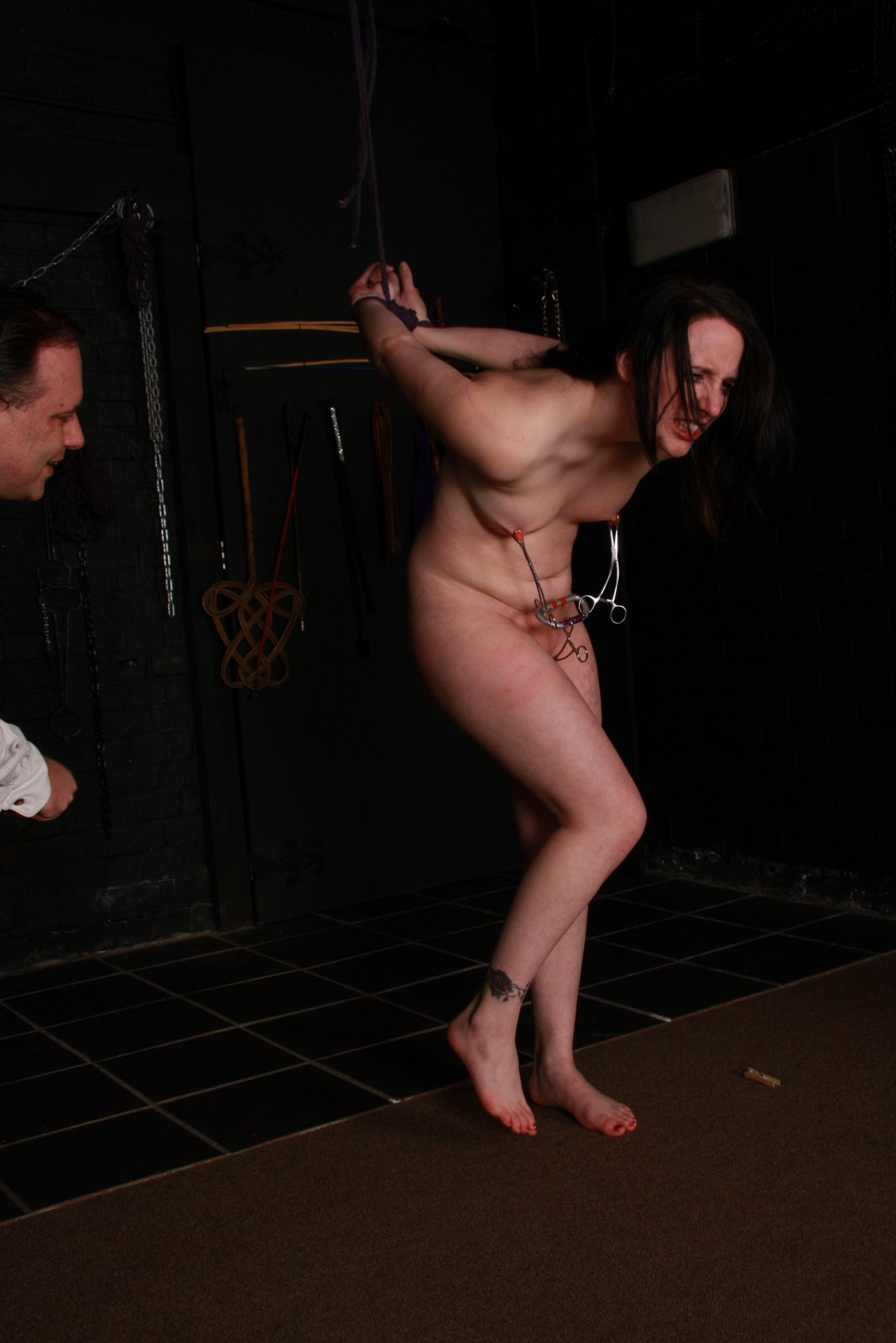 The Women in bdsm crying authoritative