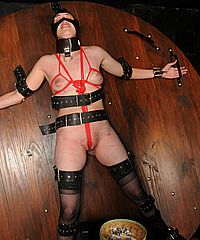 Electro shock tazer torture of lesbian slavegirl Jessica in breast whipping and clitoris punishments by female dominant sadist from The Pain Files